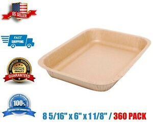 Paper Food Tray 8 5 16 X 6 X 1 1 8 360 case Eco Disposable Kraft