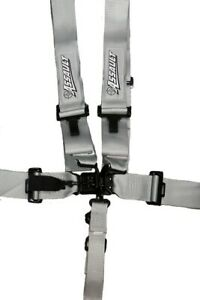Assault Racing Silver 5 Point 3 Wide Safety Race Harness Seat Belt Kit Sfi 16 1