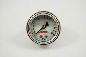 Aed Analog Mechanical Fuel Pressure Gauge 1 1 2 Dia White Face 6101