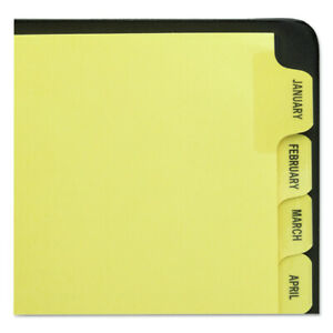 Avery 11307 12 tab Preprinted Laminated Tab Dividers W Gold Edge Letter New
