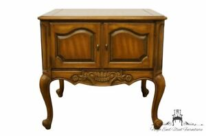 Weiman Furniture Walnut Louis Xvi French Provincial 24 Banded Accent End Tab