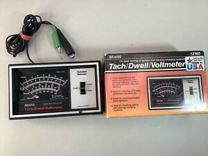Sears Solid State Electronic Tach Dwell Voltmeter Model 161 216500 Tested Works