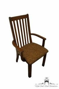 Arcese Brothers Furniture Solid Oak Mission Shaker Style Dining Arm Chair
