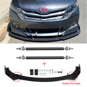 For Honda Civic Accord Front Bumper Lip Splitter Spoiler Body Kit Strut Rods