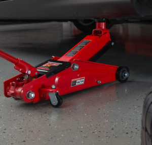 Hydraulic Trolley Service Floor Jack With Extra Saddle 3 Ton 6 000 Lb Capacity