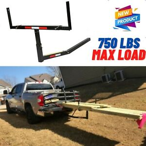 Pickup Truck Bed Hitch Mounted Extension Extender Rack Ladder Canoe Kayak Lumber