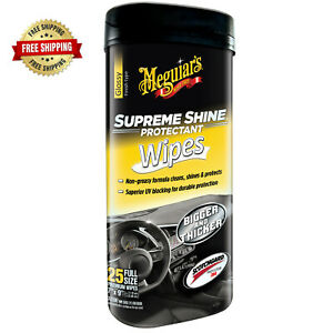 Meguiar S Supreme Shine Car Interior Cleaner High Shine G4000 25 Wipes