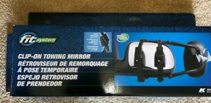 New Fit System 3891 Deluxe Universal Clip On Towing Mirror
