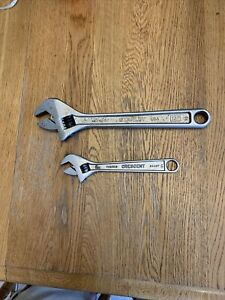 Tools Lot Of 2 Adjustable Wrenches 12 Stanley 8 Crescent Tools Usa