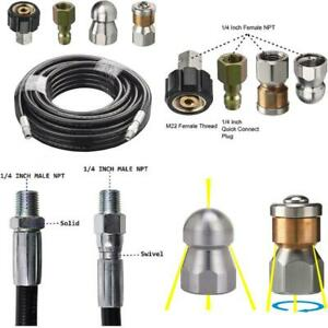 Sewer Line Drain Jetter Kit For Trigger Gun Wand Pump Pressure Washer 4000 Psi