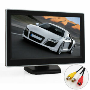 5 Inch Tft Lcd In dash Digital Car Rear View Monitor For Vcd Dvd Gps Camera