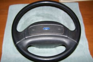 1992 96 Ford F150 f250 f350 Steering Wheel With Cover Black Oem