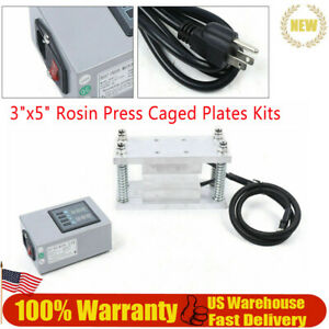 Rosin Plate With Controller Press Plates Kit 3 X 5 With Heating Rods 10 12 Ton