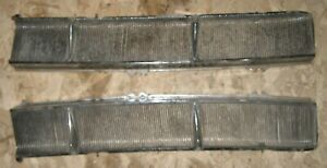 1957 Cadillac Windshield Cowl Intake Grill Grilles Pair Used Orig 57