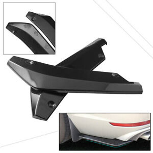 Rear Bumper Spoiler Diffuser Side Skirt Rear Lip Molding Body Kit Universal Pair