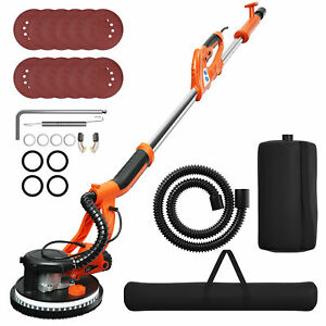 Costway Electric Drywall Sander 750w Adjustable Variable Speed W Vacuum And Le