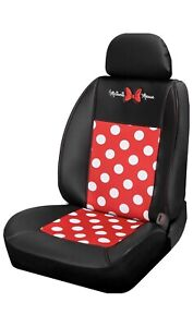 Disney Minnie Mouse Dot Premium 3 Pcs Sideless Seat Cover For Car Truck Suv
