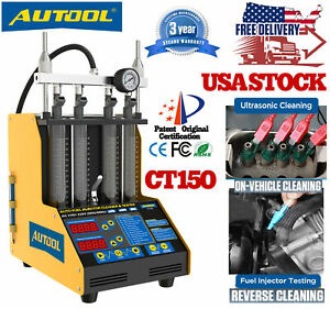 Autool Ct150 4cylinder Car Motor Ultrasonic Fuel Injector Cleaner Tester Machine