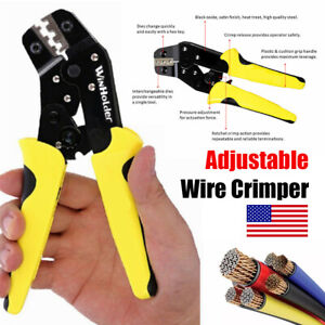 Wire Crimper Pliers Non Insulated Electrical Cable Connectors Terminal Crimping