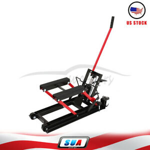 1500 Lbs Atv Motorcycle Hydraulic Lift Jack Hoist Stand Drit Bike Adjustable