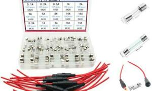 10pcs 5x20mm Fuse Holder Inline Screw Type With 18 Awg Wire 150pcs Quick