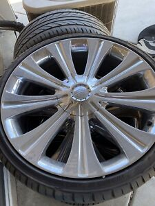 22 Inch Rims And Tires Universal Set Of 4
