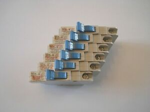 Lot Of 6 Nc015 Federal Pioneer fpe Stab lok Space Saver Circuit Breakers 15a