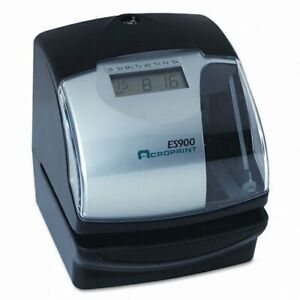 Acroprint Es900 Multi function Side Printing Time Recorder Card Punch stamp