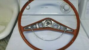 1959 1960 Chevy Impala Steering Wheel Red