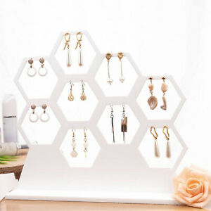 Earring Holder Stud Display Stand Necklaces Organizer Storage For 9 Earrings