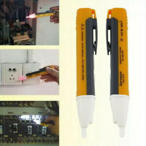 Led Light Ac Electric Voltage Tester Volt Alert Pen Detector Sensor 90 1000v