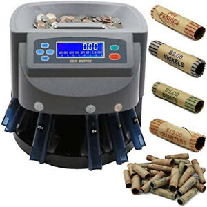 Electronic Usd Coin Sorter And Counter With Lcd Display Sorts 270 Coins Min
