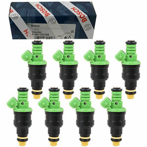 Set Of 8 Bosch Fuel Injectors For Ford Mustang Chevy Corvette Camaro 42lb 440cc