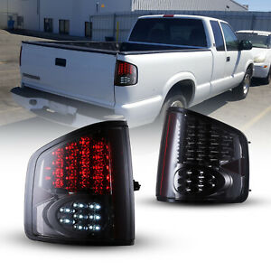 Led Tail Lights For 94 04 Chevy S 10 Pickup Gmc Sonoma Rear Lamps Chrome Smoke Fits Gmc Sonoma