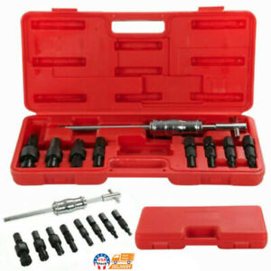 9pcs Inner Bearing Puller Set Remover Slide Hammer Internal Kit Blind Hole Us