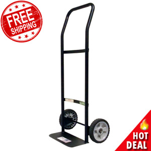 Hand Truck Dolly 300 Lb Heavy Duty Metal Lightweight Roll Moving Cart Black New