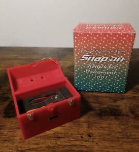 New 2001 Snap on Tools Krw48a Tool Box Christmas Ornament Rare Collectible Nos