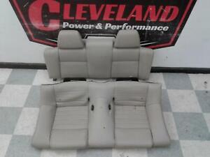 2011 2014 Mustang Gt Convertible Oem Leather Rear Back Seat Seats Stone Gray