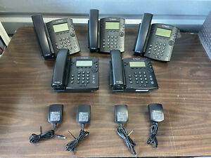 Lot 5 Polycom Vvx300 Voip 6 Line Business Phone 2201 46135 001