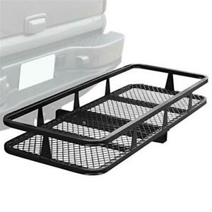Fold Up 60 x 20 x 6 Basket Trailer Hitch Mounted Cargo Carrier Fit 2 Receiver