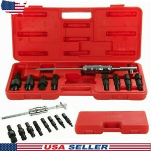 9pcs Inner Bearing Puller Set Remover Slide Hammer Internal Kit Blind Hole New