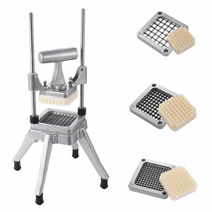 Stainless Steel French Fry Cutter Potato Vegetable Slicer Chopper New Blades Us
