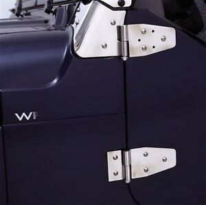 Rampage For 1987 1995 Jeep Wrangler yj Door Hinges Stainless
