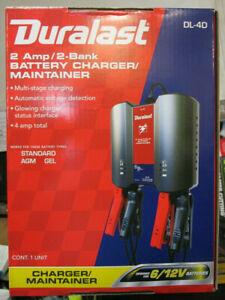 Duralast 2 Amp 2 Bank Battery Charger
