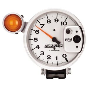 Autometer 5 Inch 10 000 Rpm Shift For Lite Pedestal Tachometer Auto Gage