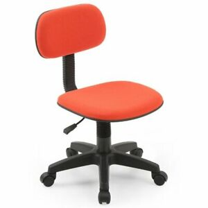 Armless Adjustable Height Swiveling Home Office Kids Task Chair Red Fabric New