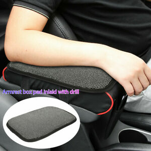 Universal Car Truck Armrest Pad Cover Bling Auto Center Console Box Cushion Mat