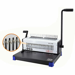 21 holes Comb Binding Machine 400 Sheet Paper Punch Binder For Letter Size Sale
