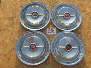 1955 Buick Roadmaster 15 Spinner Wheel Covers Hubcaps Set Of 4