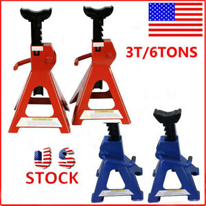 3t 6 Ton Jack Bracket Pair Of Lifter Stand Up Heavy Duty Truck Tire Replacement